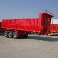 Factory Sale Directly Hydraulic Tipper Dump Trailer 3 Axles 60T With FUWA Axle