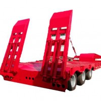 Hot heavy duty 40-60 ton used 28 tons landing gear low flatbed semi trailer low bed excavator