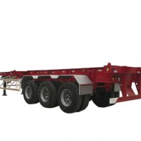 Tri-axles 40ft Container For Shipping Skeleton Chassis Semi Trailer