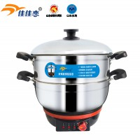 Multifunctional electric heating pot fire red button